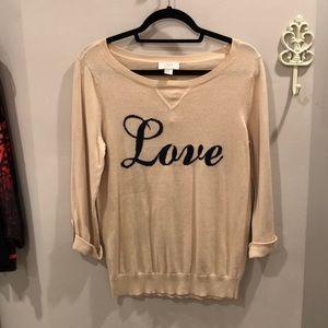 NWT LOFT Love Sweater 💓